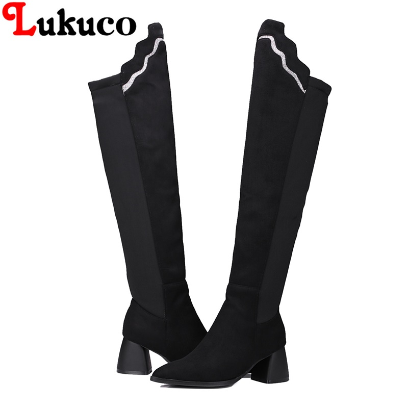 2018 fashion new hot boots large size 36 37 38 39 40 41 42 43 Stretch Fabric design women sexy shoes real pictures free shipping