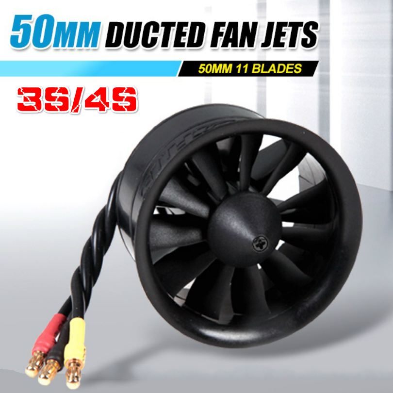 FMS 50mm 11 Blades Ducted Fan EDF Jet with 2627 KV4500 (4S) / KV5400 (3S) Motor Engine RC Airplane Model Plane Part Power System image