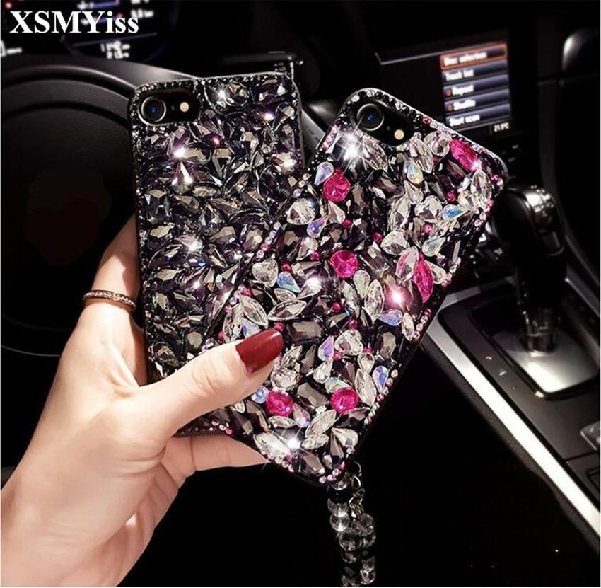 XSMYiss Bling Del Rhinestone Del Diamante Volpe e Morbida Posteriore Della Cassa Del Telefono Cover Per Samsung S4 S5 S8 S9 S6/S7edge S8/S9plus N4 N5 N8