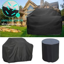 Waterproof Anti Dust BBQ Grill Cover also for Patio Furniture Chaise Lounge Charcoal Electric Barbeque Grill Protector Covers