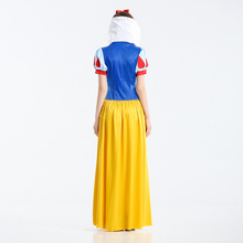 Princess Snow White Halloween Polyester Dress For Young Ladies