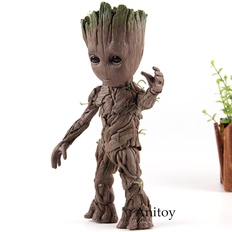 Marvel Avengers Infinity War ROCKET E BABY GROOT Action Figure PVC Collezione