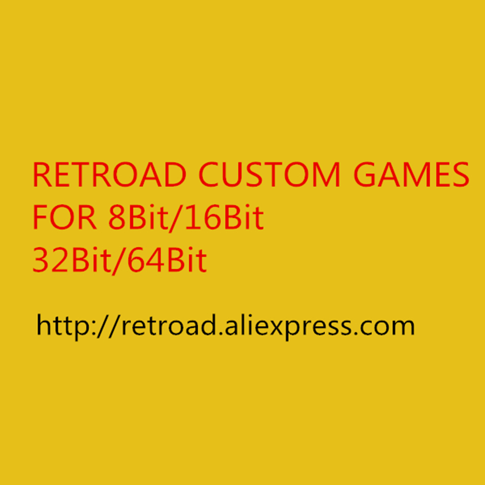 RETROAD Custom Games for 8bit 16bit 32bit 64bit