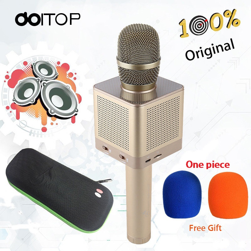 DOITOP Original Q10S Wireless Bluetooth Microphone Karaoke Speaker Home KTV MIC With 4 Loudspeakers Voice Change For Phones B4 clever пижамные истории морские сказки
