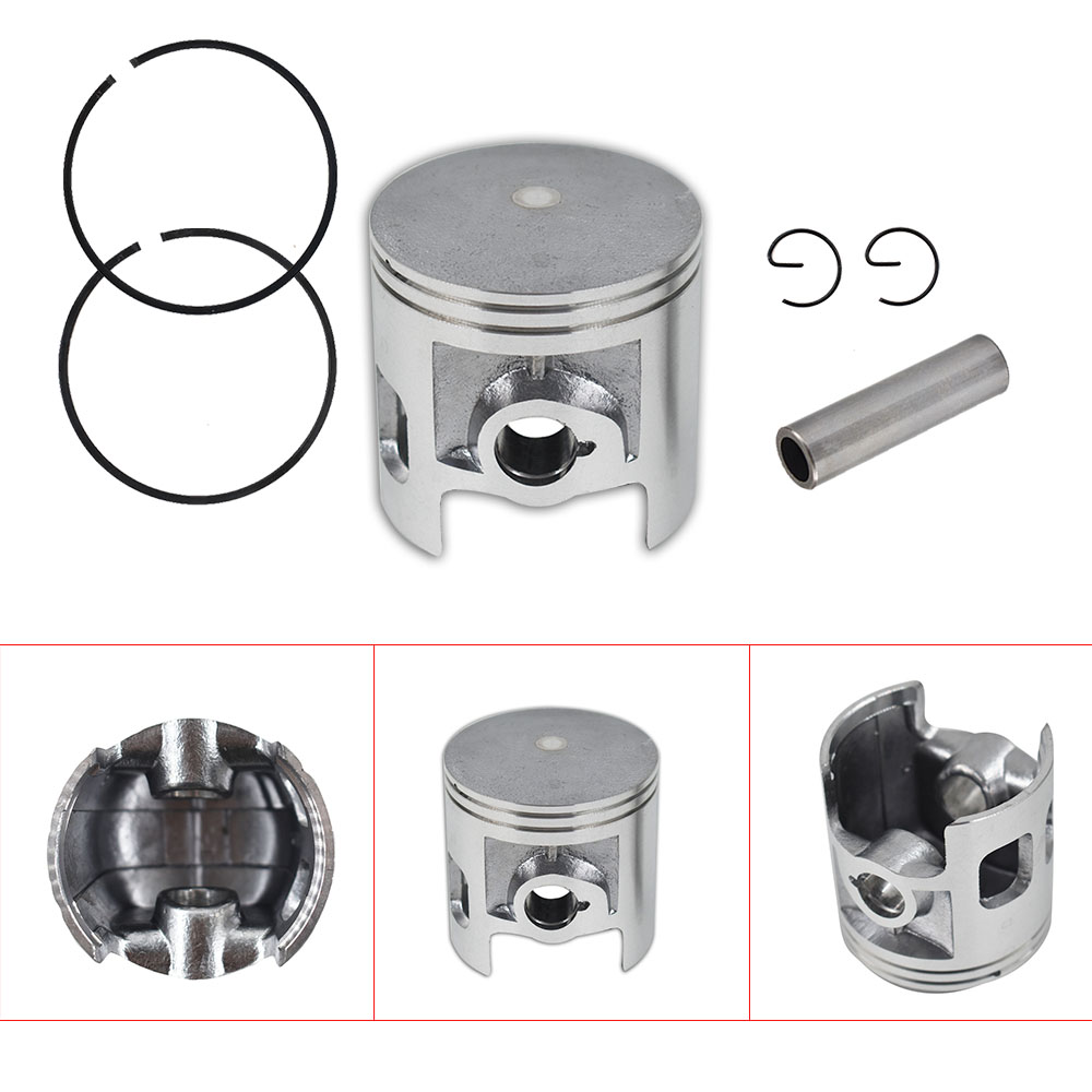 Piston 66mm Bore 69.5mm Height Rings Kit DT 175 YT175 STD Motorcycle For Yamaha image