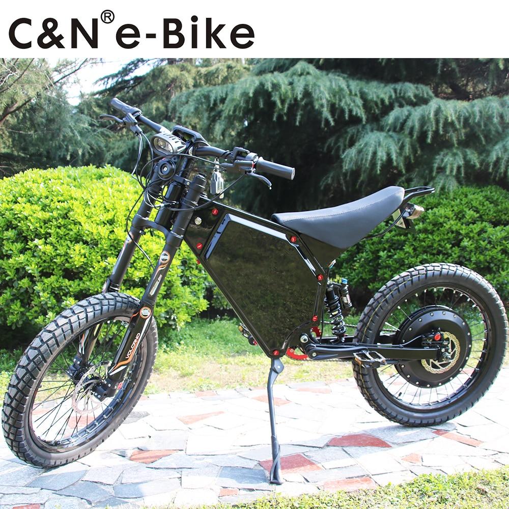 2018 Powerful Electric Motorcycle 72v 8000w Enduro Ebike Electric Mountain Bike Hot Sale