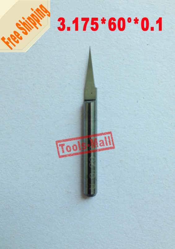 10 pcs 60 Degree 0.1mm Tip  3.175mm Carbide end Mill Milling cutter Engraving Tool Bit CNC Router Bit Tool PCB PVC Engraving Bit new arrival 5pcs a set 3 175mm carbide pcb engraving bits cnc router tool 90 degree 0 1mm milling cutter end mill hot sale