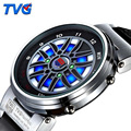 Luxury Brand TVG LED Watch Men Creative Car Roulette Led Watch Men Outdoor Sports Wristwatch Erkek Kol Saati Heren Horloge