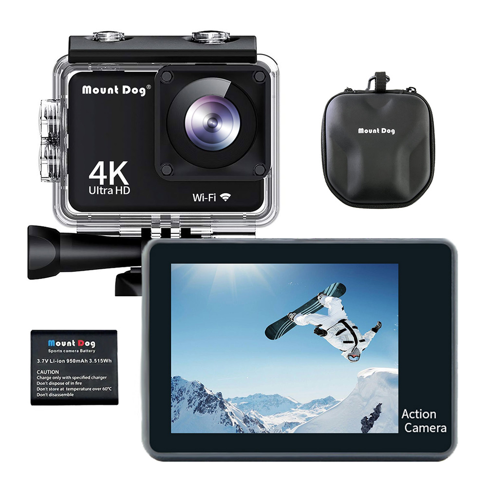 MountDog Action Camera Ultra HD 4 K WiFi Remote Control Sports Video Cam Recorder DVR DV Waterproof Go Pro Camera accessories