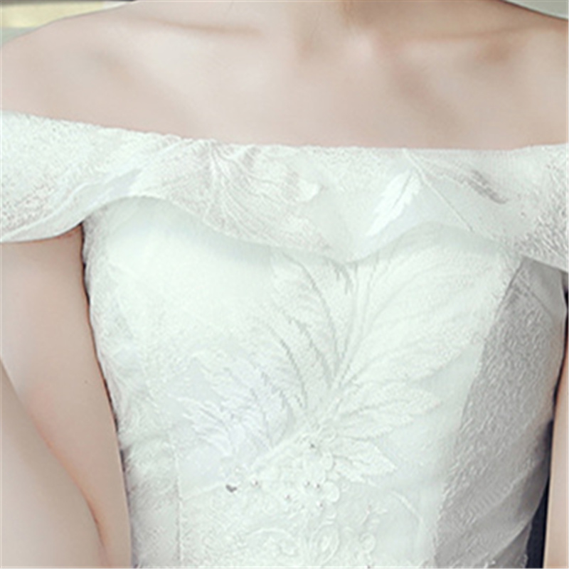 It s YiiYa Floor length Wedding Dresses Elegant Lace Maternity Brides Gowns  Lace Up Vestidos De Novia Casamento HX019-in Wedding Dresses from Weddings  ... 8f6c4f32a083