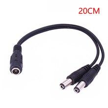 Câble de séparation dalimentation DC 1 femelle vers 2 mâles 2.1x5.5mm, accessoires pour caméra CCTV, DVR, sécurité bande lumière LED
