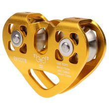 Retail Mini Aviation aluminum Metal 30KN Tandem Pulley block 10.6 x 7.2 cm fixed Pulley for 8-13mm ropes Double Pulley for DIY цена