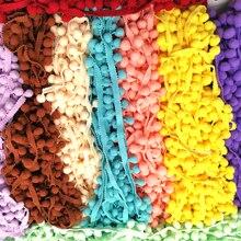 1-5yard помпон бахрома кружевная лента помпон отделка шар Ткань DIY шитье кисточка кружево трикотажная ткань ручная работа, сделай сам, Ремесло АКСЕССУАРЫ