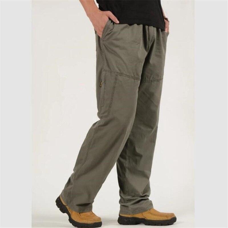 Capace Uomo Primavera Tuta Sciolto Cargo Pantaloni Uomo Di Combattimento Tattico Esercito Pantaloni Militari Cotone Casual Uomo Pantaloni Da Lavoro Plus Size 5xl 6xl