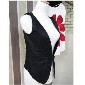 Image 4 - Ms colete slim vestido coreano para mulheres, colete/colete pequeno