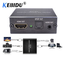 KEBIDU 4 K x 2 K HDMI audio extractor + Ottico TOSLINK SPDIF + 3.5mm Stereo Audio Extractor Convertitore HDMI Audio Splitter(China)