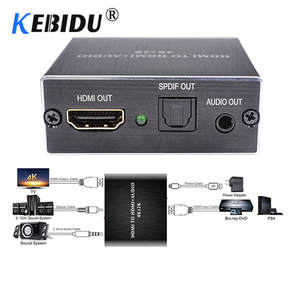 KEBIDU Converter Audio-Splitter Stereo-Audio-Extractor Optical-Toslink SPDIF HDMI 4k-X-2k