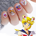 4 hojas de Sailor Moon Tsukino Usagi Calcomanías de Agua Del Arte Del Clavo de Transferencia de Agua Pegatinas Nail Art Tatuaje de Sailor Venus Tobogán