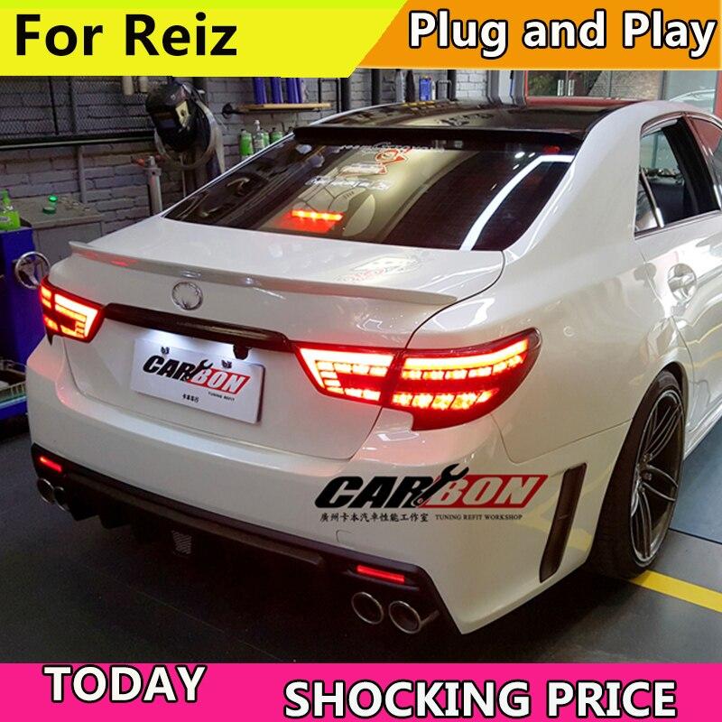 Car Styling for Toyota Reiz Taillight assembly 2013 2017 Mark X LED Tail Light Rear Lamp