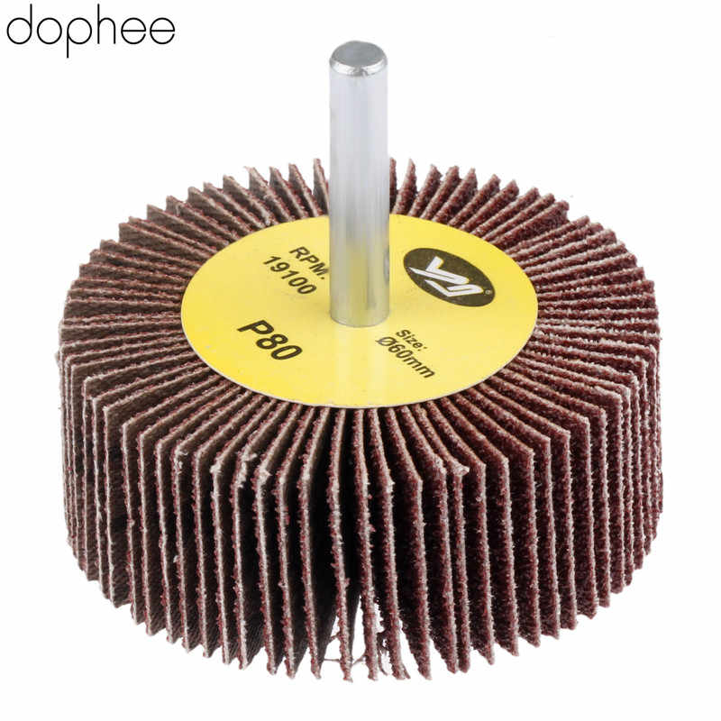 60mm Aluminum Oxide Flap Wheel Grinding Sandpaper Grinder Polishing Tool 80 Grit