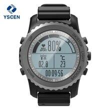 Лучшие Yscen S968 Спорт Смарт часы IP68 Водонепроницаемый сна сердечного ритма Мониторы барометр, термометр альтиметр шагомер GPS Смарт-часы