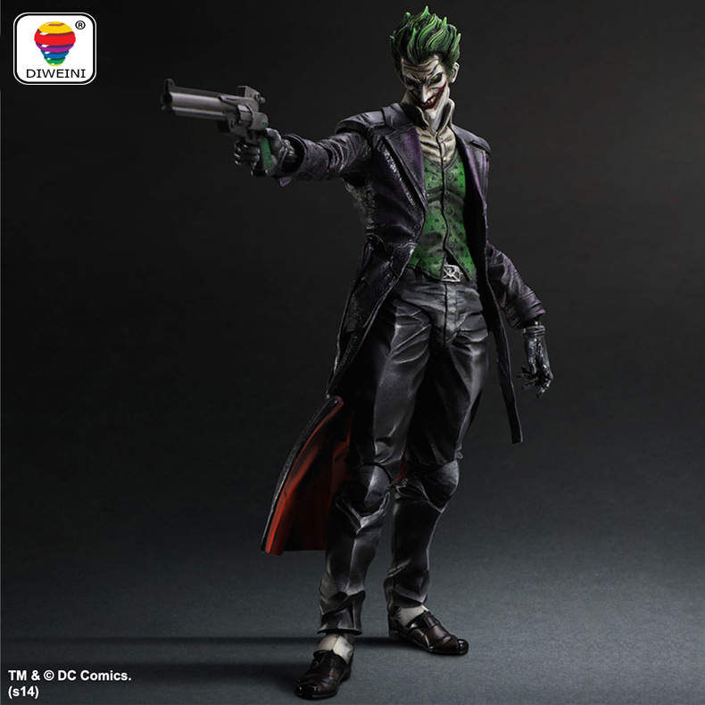 DIWEINI Play Arts KAI Super Hero Batman Arkham Origins The Joker With Gun PVC Action Figure Collectible Model Kids Toys Doll neca dc comics batman arkham origins super hero 1 4 scale action figure