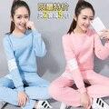 La primavera y el otoño y la primavera otoño pijamas de las señoras traje de algodón de manga larga femenina casual ropa de Casa de verano fina