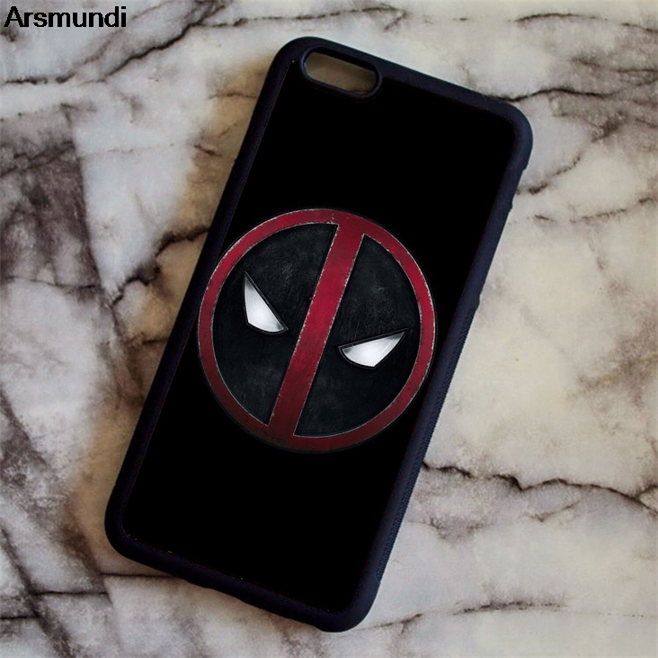 Arsmundi DC Batman Superman Deadpool Marvel Phone Cases for iPhone 4S 5S 6S 7 8 X for Samsung S8 9 Case Soft TPU Rubber Silicone