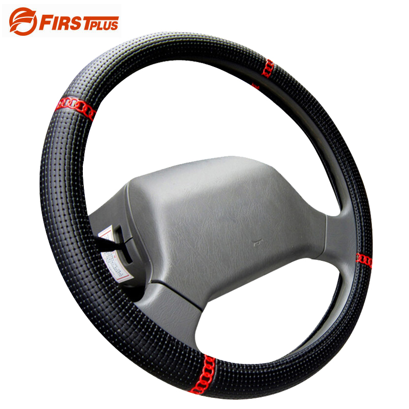 36 38 40 42 45 47 50cm Truck Bus Car Woven Leather Steering Wheel Covers Summer Breathable Steering Wheel Cover Truck