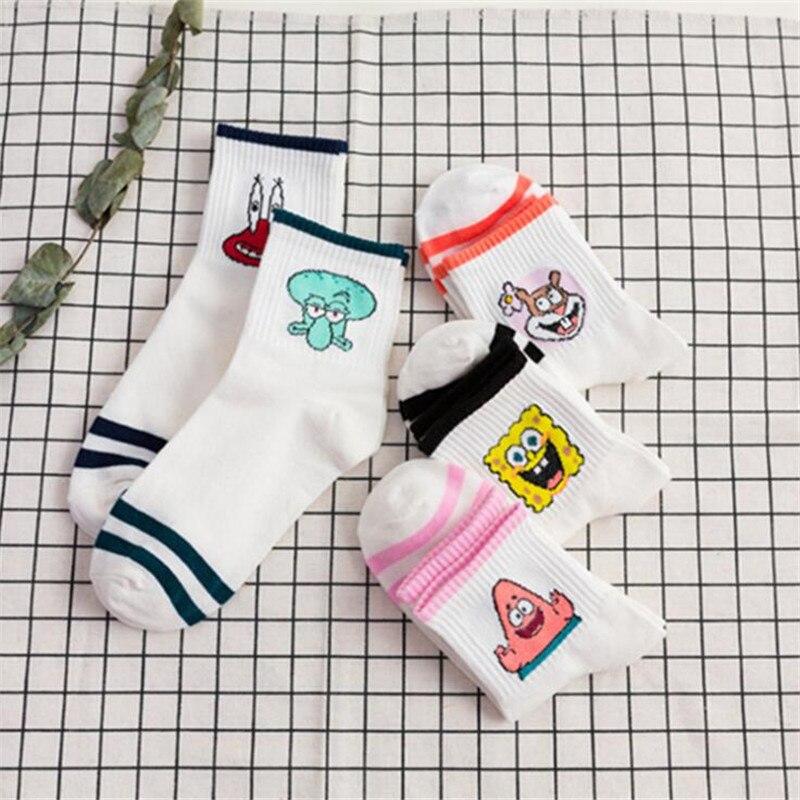 Fashion Cartoon Short   Socks   Women Harajuku Cute Ankle   Socks   Hipster Skatebord Funnya Alien   Socks   For Female Ladies Meias Sox
