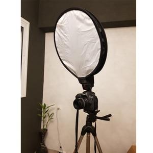 Image 5 - طوي على أعلى 40 سنتيمتر جولة مربع لينة فلاش الناشر Speedlight الفوتوغرافي Softbox ل ل NikonCanonYongnuoSonys ملحقات ستوديو الصور