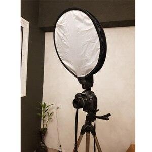 Image 5 - Có thể gập lại Trên Top 40 cm Tròn Mềm Mại Hộp Đèn Flash Máy Khuếch Tán Tốc Softbox cho cho NikonCanonYongnuoSonys Ảnh Phòng Thu Phụ Kiện