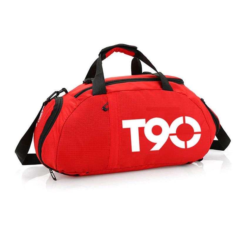 T90 Waterproof Gym Sports Bags Men Women Molle Fitness Training Backpacks Wear Resistant Travel Bags Bolsa Shoulder Handbags