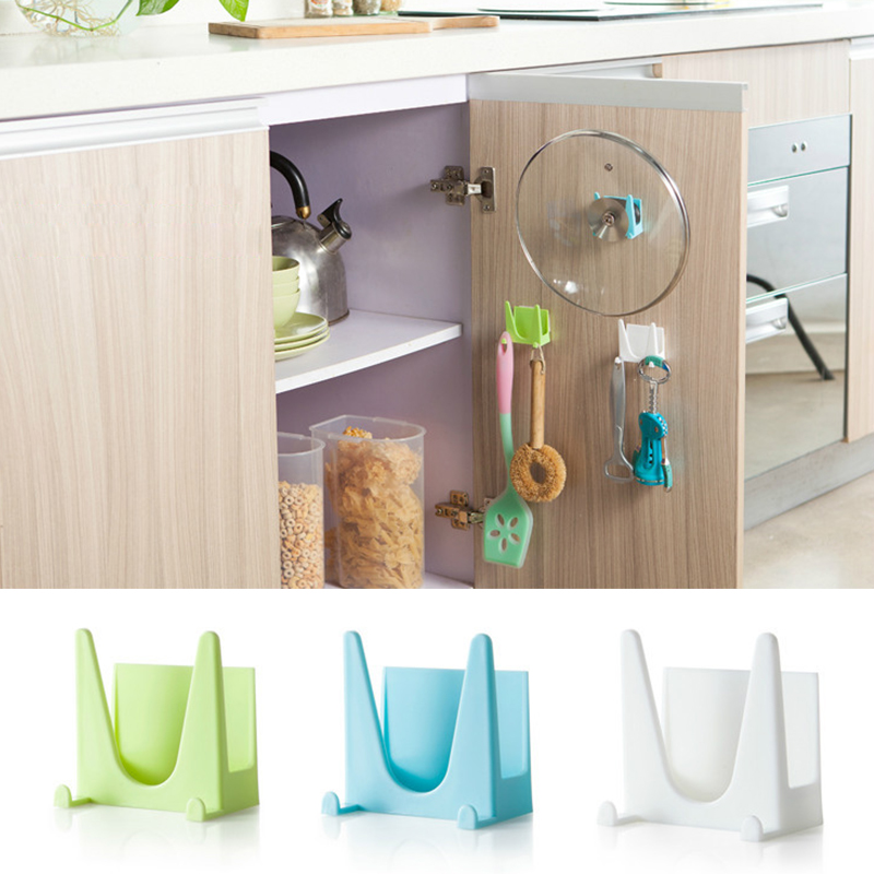 kitchen organisers storage 2pcs cooking plastic kitchen organizer pot pan cover 2352