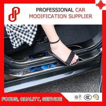 8 pezzi In Acciaio inox proteggere auto modificato speciale porta di protezione del pedale davanzale del Portello del piatto dello scuff per Corolla 2014-2018