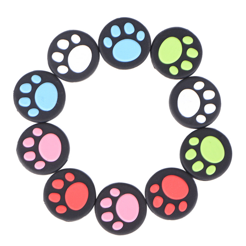 2 Pcs Cat Paw For PS3 PS4 Xbox One/360 Controller Joystick Caps Rubber Silicone Game Handle Joystick Thumb Stick Grip Cap