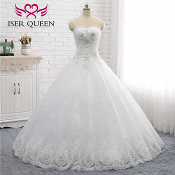 Off Shoulder Embroidery Lace Wedding Dresses Beautiful Crystal Beading Ball Gown Wedding Dress 2019 Fashion Floor Length WX0006 - DISCOUNT ITEM  33% OFF All Category