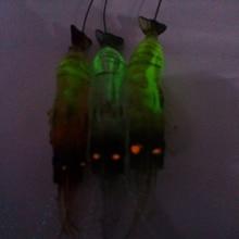 10CM 6G 5PCS Luminous Soft Lures Fake Shrimp Lures/Hooks Soft Baits Soft Fishing Lures Fishing Baits Artificial Baits NR0022