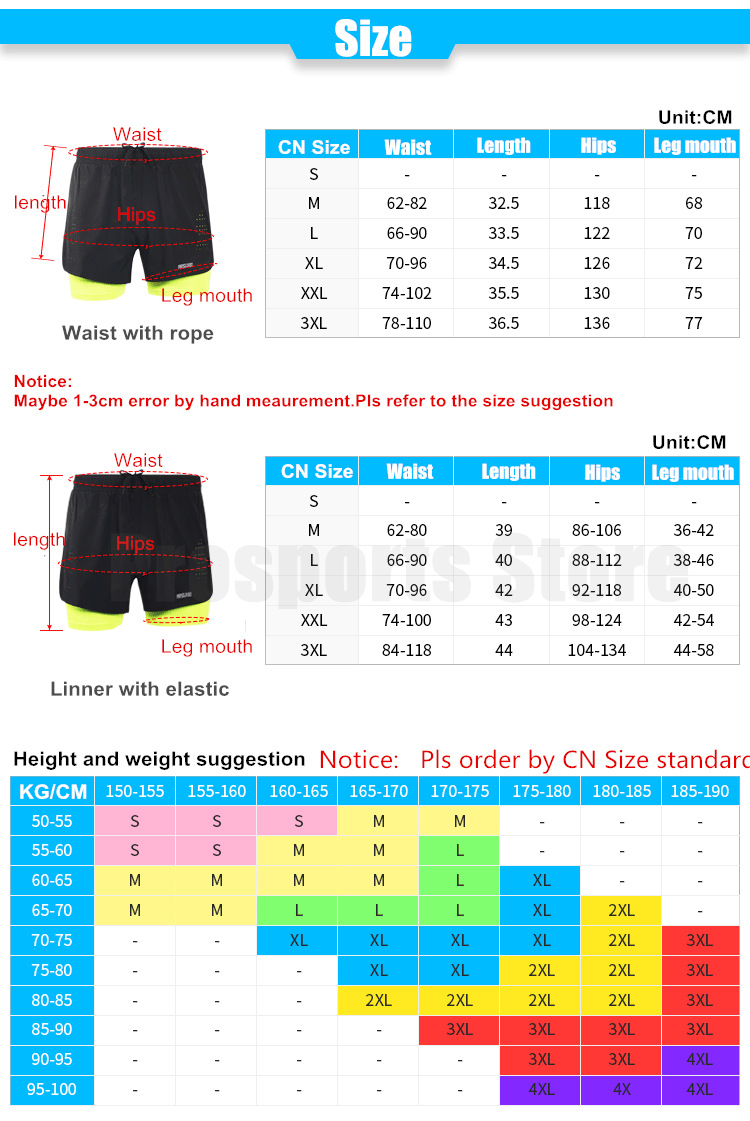 Arsuxeo 2020 New Running Shorts Men 2 In 1 Compression Marathon Quick Dry Gym Tights Sport Shorts with Reflective Zipper Pocket