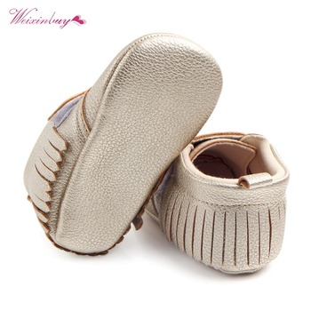 WEIXINBUY 6 Colors Brand Spring Baby Shoes PU Leather Newborn Boys Girls Shoes Non-Slip First Walkers Baby Moccasins 0-12 Months 1