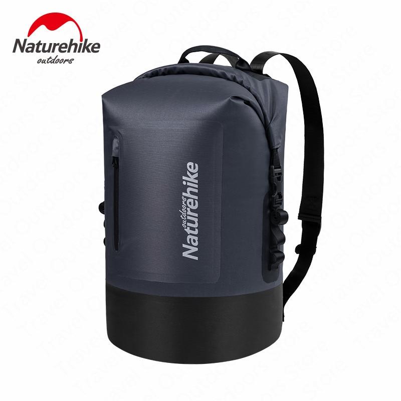 Naturehike 420D TPU Dry Wet Separation Trekking Drifting Seal Rafting Bag Double Straps Dry Swimming Waterproof Bag With Pocket