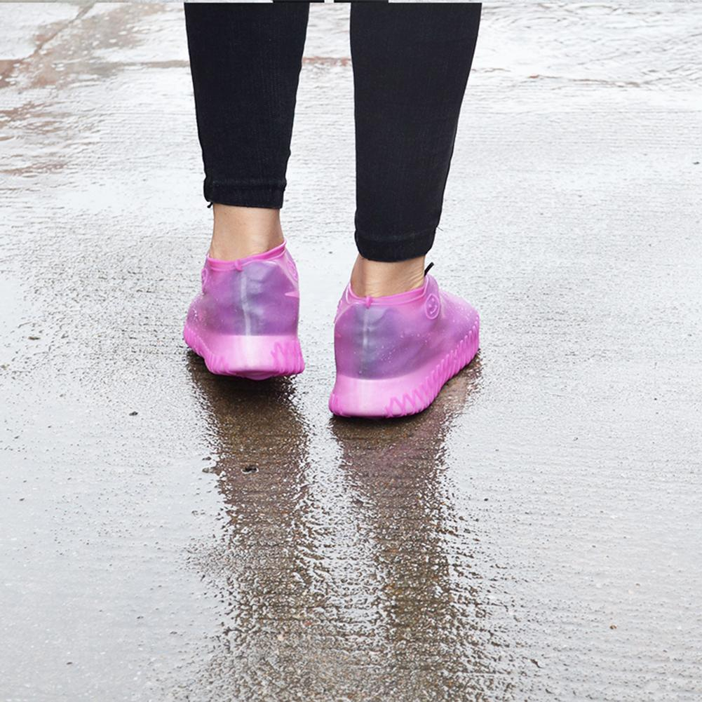 Image 3 - A Pair Of Silicone Shoe Covers Are Rainproof Non slip Thick Shoe Cover For Easy Carrying Outdoor Accessories Rainy Season-in Umbrella Accessories from Home & Garden