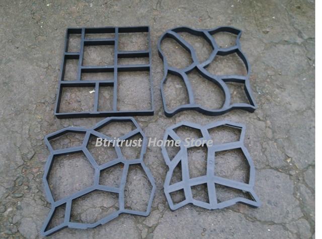 60*50cm 5pcs/lot Hot Sale Driveway Patio Concrete Stepping Stone Path Walk  Maker