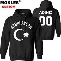 AZERBAIJAN pullover logo custom name number autumn winter Jersey keep warm hat aze flag azerbaijani nation az black blue clothes