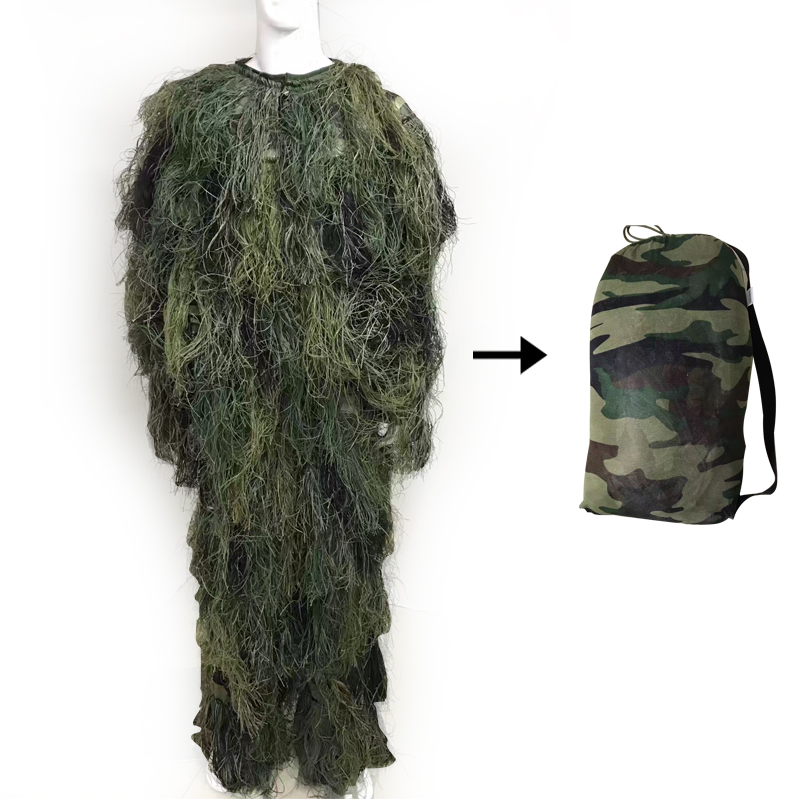 CS Camouflage Ghillie Suit 3D Bionic Leaf Jungle Snow Hunting Disguise Uniform Sniper Military Train Hunting Cloth Woodland 3d leaf camouflage tactical military airsoft paintball hunting camo bionic disguise sniper archery ghillie suit disguise uniform