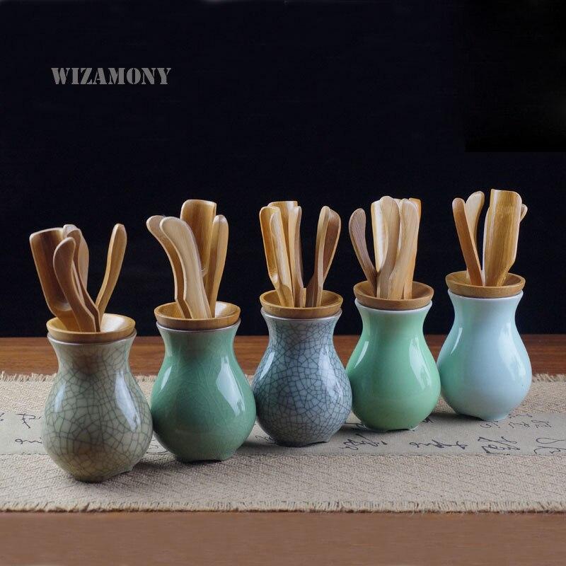 Chinese Longquan Celadon Tea Filter Six Gentlemen Glaze Ceramic Tea Set Tea Leaf Strainers Tea Tools Kung Fu Tea Accessories