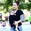 2016 Venta Caliente Bebé de la Honda Mochila Portador de una Envoltura Elástica Bebé Canguru Mochila Newborn-3 Años Color Sólido Elástico de Algodón Hipseat