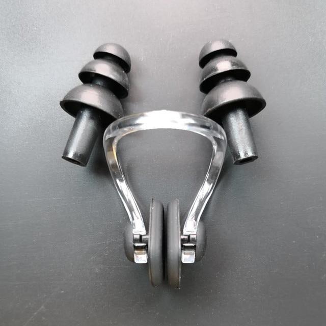 1 סט עמיד למים רך סיליקון בריכת סט האף קליפ אוזן Plug Earplug הגנה