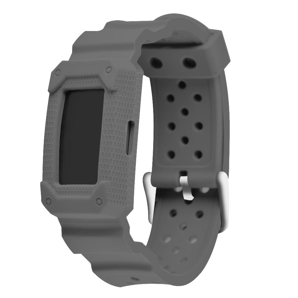 Fitbit şarj için silikon Akıllı Watch Band Bilezik 2 İK Spor Çerçeve Watchband ile Aksesuar Bileklik Kayışı Yerine Takın