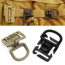 Rotasi D Camp Kenaikan Bushcraft Anyaman Tali Hang Militer Moutain Clamp Taktis Ransel Pasang Alat RING CLIP Molle(China)